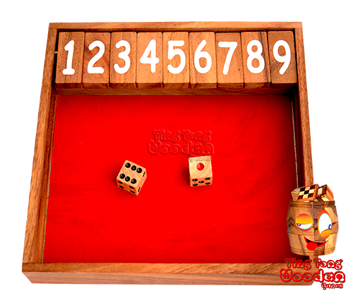 Shut the box clapboard fun dice game with friends