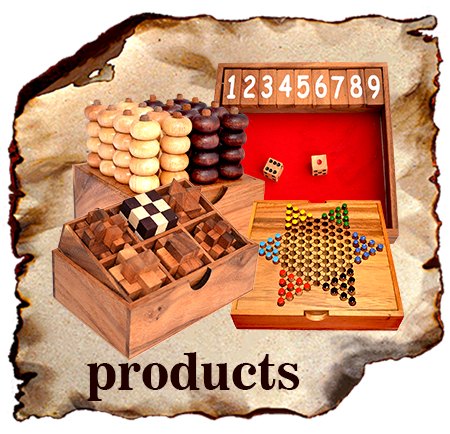 Ting Tong wooden game products in various categories